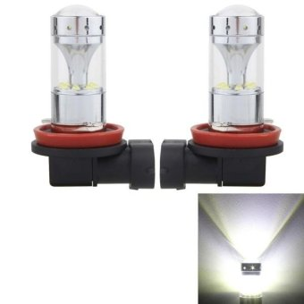 2 PCS H8/H11 60W 1200 LM 6000K Car Fog Lights With 12 CREE XB-D LED Lamps, DC 12V (White Light) - intl Price Philippines