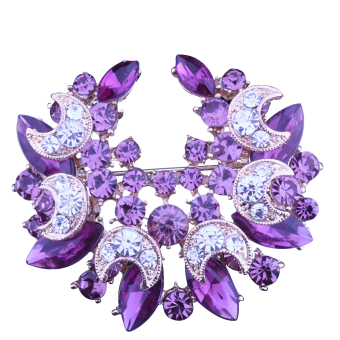 Harga Vococal Moon Brooch Pin Purple