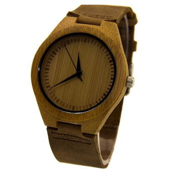 Harga Leather Bamboo Wooden Watches