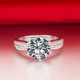 Women Shiny Zircon Finger Ring Wedding Engagement Ring Gift - intl Price Philippines