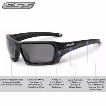 Harga Genuine Black ESS Rollbar Sunglasses with Unique High-impact interchangeable lens System