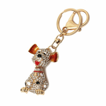 Pet Dog Cute Doggie Charming Bling Lovely Pendent Crystal Keychain Keyring Gift Price Philippines