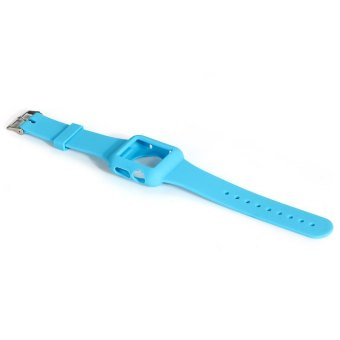 Silicone Watchband for iWatch Apple Watch 38mm (Blue) (Intl) Price Philippines