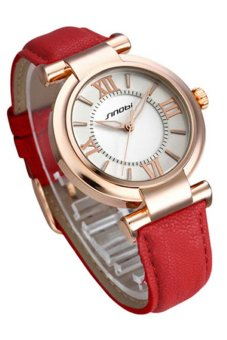 OEM Casual Women's Red Leather Strap Watch 8594 Price Philippines