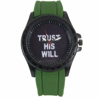 Pic Watch Trust His Will Silicon Strap Watch (Green) Price Philippines