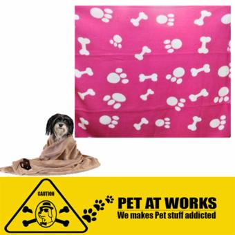 Harga Pet towel and blanket (Fushia Pink) for pets dog cat