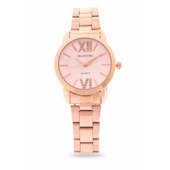 Harga Valentino Rose Gold Stainless Band Women'S Watch 20121942-Rose Dial