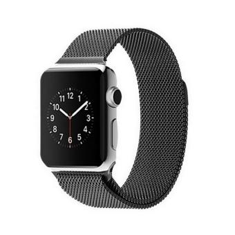 GAKTAI Replacement Milanese Magnetic Loop Stainless Steel Strap Watch Bands For Apple Watch iWatch 42MM - Black - intl Price Philippines