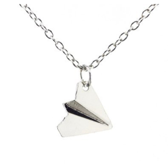 Hequ Simple One Direction Smooth Comfy Paper Airplane Chain Pendant Necklace Price Philippines