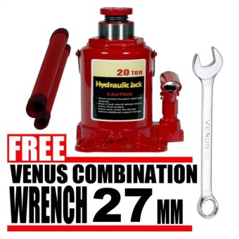 Harga Prostar 20 Ton Hydraulic Jack - Bottle Type (Red) item No.: BJ2001 with Free Venus Combination Wrench 27 mm