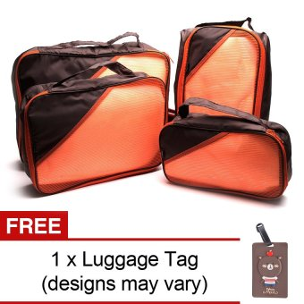 Harga Le Organize 4-in-1 Luggage Organizer with Free Luggage Tag (Brown)