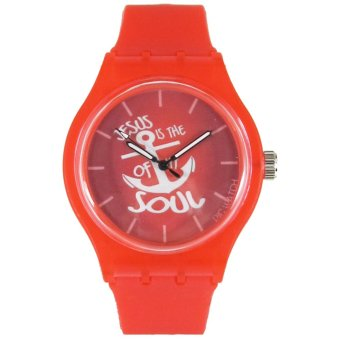 Pic Watch Jesus Is The Anchor of My Soul Red Silicone Strap Watch Price Philippines