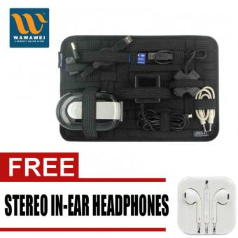 Harga Grid It Travel Organizer (Black) with free Stereo In-Ear Headphone (White)