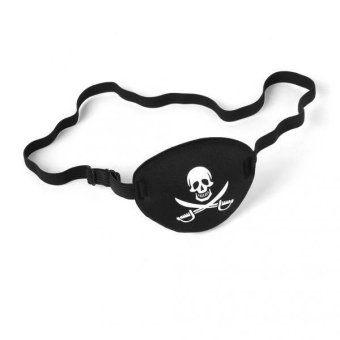 Harga MagiDeal Pirate Skull Crossbone Eye Patch Cover Eye Mask Eyeshade for Lazy Eye - intl