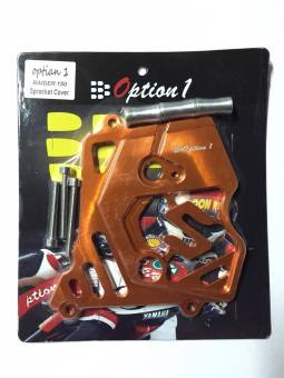 Option1 Sprocket Cover Alloy for Raider150 (ORANGE) Price Philippines