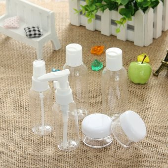 Harga EOZY 6 Piece Empty Jar Pot Cosmetic Face Cream Bottle Container Transparent Plastic Lotion Bottle For Travelling