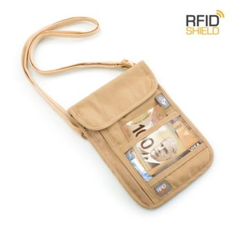 Harga Heys RFID Blocking Neck Wallet - Beige