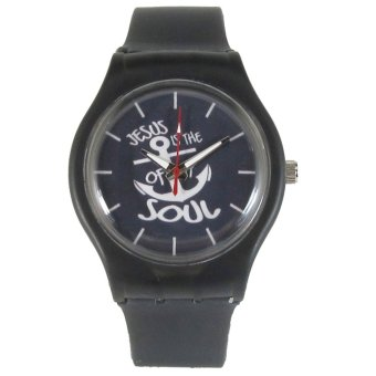 Pic Watch Jesus Is The Anchor of My Soul Black Silicone Strap Watch Price Philippines