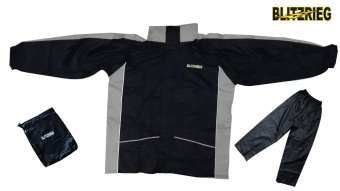 Blitzkrieg® MJ-Series MJ-08 Motorcycle Ultra Durable RainCoat & Jacket Set With Pants Touring (Grey) Price Philippines