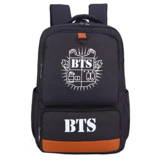 Newest Shop Hong Kong High Fashion BTS Big Size Rucksack Knapsack School Bag (Black) Price Philippines