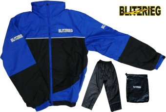 Blitzkrieg® MJ-Series MJ-55 Motorcycle Ultra Durable RainCoat & Jacket Set With Pants Touring (Blue) Price Philippines