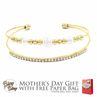Bling Bling Layla Gold Bracelet Bangle with Free Paper Bag Price Philippines