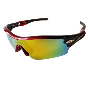 Harga Fury Rivbos 0805 Multi Lens Sports Sunglasses (Black / Red)