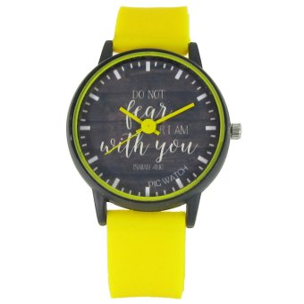 PIC Watch Do Not Fear For I Am With You Yellow Silicone Strap Watch Price Philippines