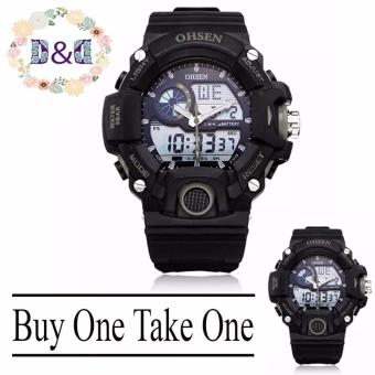 Harga D&D OHSEN AD2808 Men Sports Wristwatch Buy One Take One