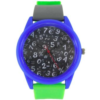 Pic Watch Math Formula Silicon Strap Watch (Green) Price Philippines