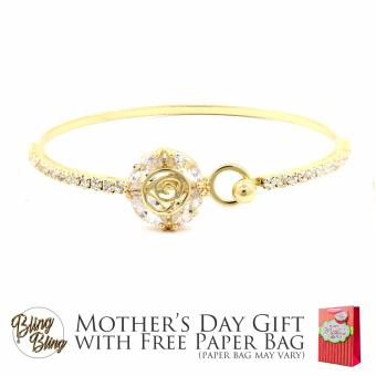Bling Bling Lauren Gold Bracelet Bangle with Free Paper Bag Price Philippines