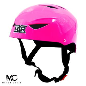 Harga Motor Craze RXR Half Face Crash Safety Plain Passenger Helmet (Hot Pink)