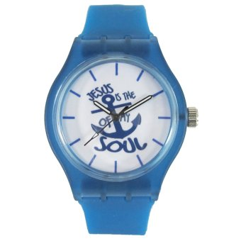 Pic Watch Jesus Is The Anchor of My Soul Blue Silicone Strap Watch Price Philippines