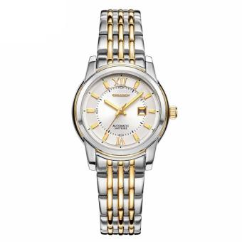 Harga equipn Genuine Xisida watches automatic mechanical watch waterproof luminous sapphire business Ladies Watch (Gold)