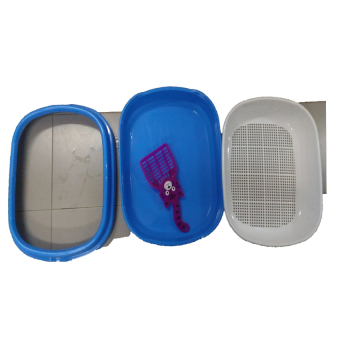 Harga round mesh cat litter box (Blue) - intl