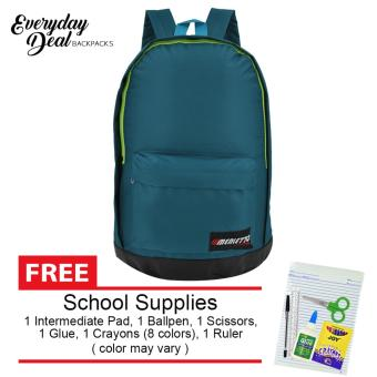 Harga Everyday Deal Merletto School Backpack (Teal) with FREE School Supplies