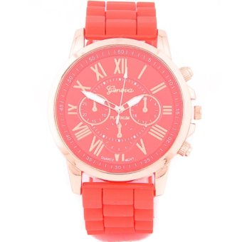 Geneva New Roman Numerals Candy Watch (Red) Price Philippines