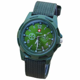 Harga Swiss Army Watches Fashion Outdoor Sports Watch (Green)