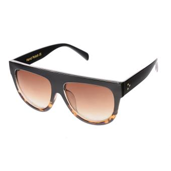 IMIXLOT Flat Top Mirror Woman Vintage Colorful Cat Eye Sun Glasses - intl