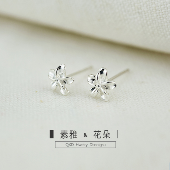 Indie 925 sterling silver elegant silver earrings stud