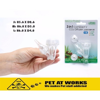 ISTA 3 in 1 CO2 Diffuser - Compact V (Small) For Planted Tank andFish Tank Aquarium