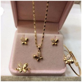 J&J 18K Gold Plated ButterFly Jewelry Set for Kikay Kids
