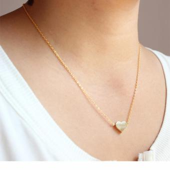 J&J Gold Plated Single Dainty Heart Necklace
