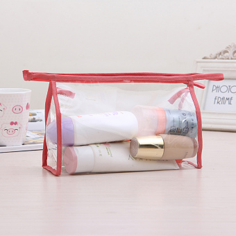 Japan and South Korea female washed waterproof pouch transparent cosmetic bag