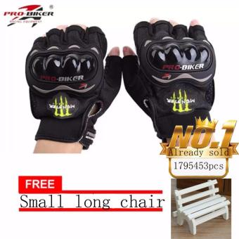 JAPAN and USA best selling free Small long chair FingerlessMotorcycle Gloves Half Finger Guantes Motorcross Bicycle RidingRacing Cycling Sport Gears Breathable Luvas