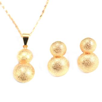 Jewelmine Double Half Bangkok Jewellery Set (18k Gold Plated)