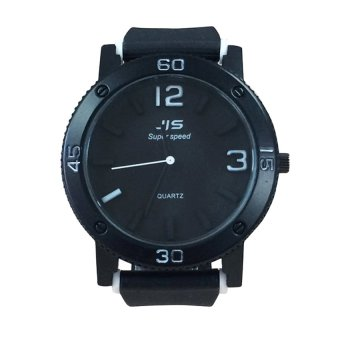 JIS 1120 Super Speed Silicone Band Watch (Black) #0127