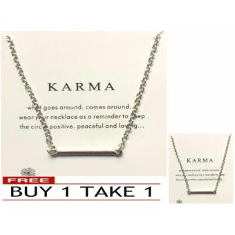 KARMA pendant necklace silver dipped 17g BUY 1 TAKE 1