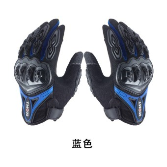 Kawasaki motorcycle riding protective gloves
