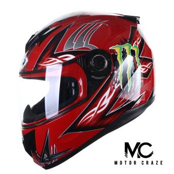 King Cobra K-691 Full Face Motorcycle Helmet (Red)
